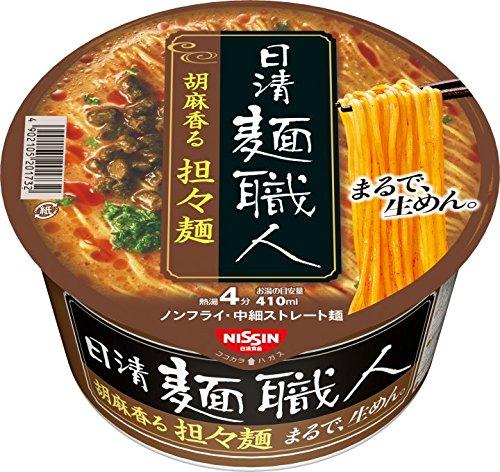 アマゾンで日清 麺職人 坦々麺 102g×12個が1446円、1食120円。