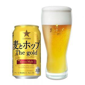 アマゾンでサッポロ 麦とホップ The gold ペアグラス付き 350ml×24本が2869円。