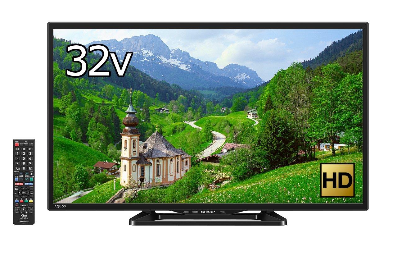 アマゾンでシャープ 32V型 AQUOS 液晶テレビ  LC-32E40 (2017年モデル)が35980円⇒30580円。