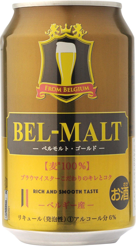 アマゾンで発泡酒のベルモルト ゴールド 330ml ×24本が2400円、1本100円。