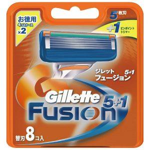 アマゾンでジレット 髭剃り フュージョン 5+1 替刃8個入が10%OFFクーポンで2663円⇒2131円。