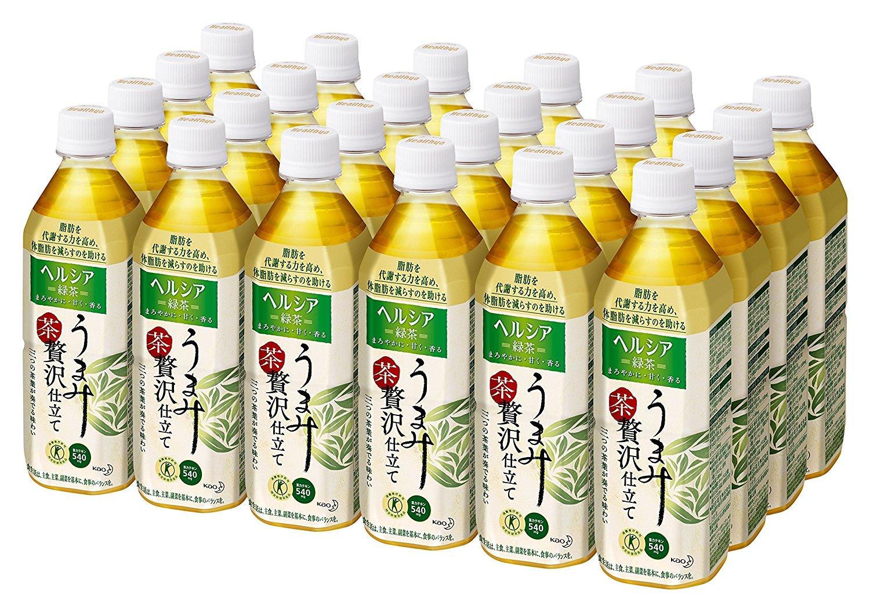 アマゾンで花王のヘルシア緑茶「うまみ贅沢仕立て」24本が4656円⇒2328円。1本97円。