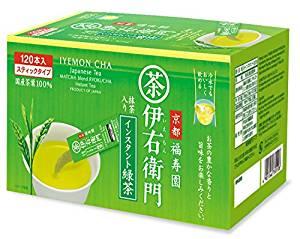 アマゾンで伊右衛門 インスタント 緑茶スティック 120本入が1928円⇒2割引き。