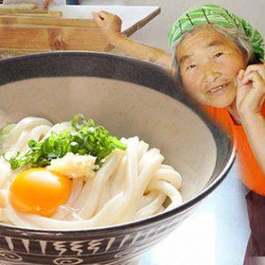 サンプル百貨店で「池上製麺所 るみおばあちゃんのおうどん 9食 | 生うどん9食・つゆ付」が1080円、1食120円。