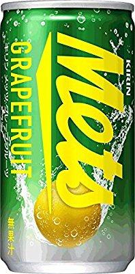 アマゾンでキリン メッツ グレープフルーツ 缶 190ml×20本が1,728円⇒918円。1本46円。
