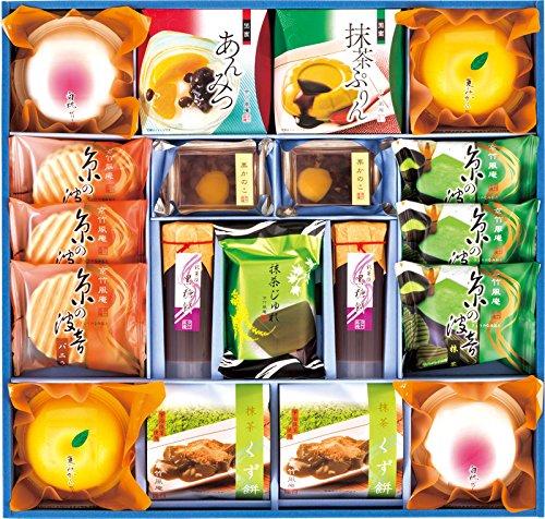 アマゾンで京竹風庵 あんみつと和風デザート詰合せが4320円⇒2061円。京都ラ・バンヴェントクリームサンド&クッキーも追加。