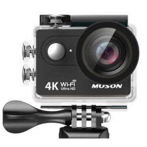 アマゾンでMUSONアクションカメラ 4K 30M防水 1200万画素 2インチ液晶画面 WiFi搭載 リモコン付きが8480円⇒7199円。