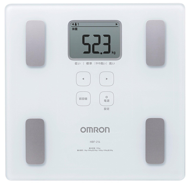アマゾン特選タイムセールでオムロン 体重・体組成計 カラダスキャン HBF-214-Wが2850円。
