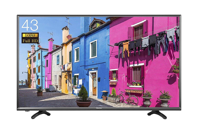 アマゾン特選タイムセールでハイセンス 43V型 フルハイビジョン液晶テレビ HJ43K3121が53784円⇒37600円。
