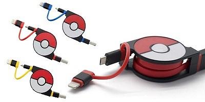 楽天スーパーDEALでcheero 2in1 巻取式 ポケモン USBケーブルが1,380円、ポイント2割、送料無料で販売中。