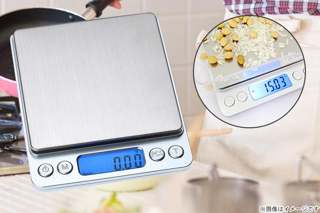 くまポンで管理人も使用中の「計量器デジタルスケール」が999円。