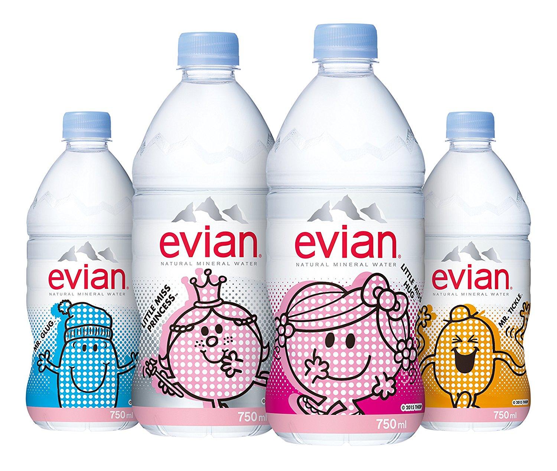 アマゾンで伊藤園 Evian(エビアン) ミネラルウォーター 750ml×12本が1164円、1本97円。