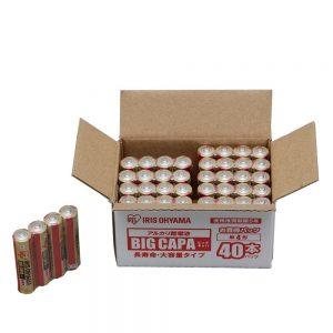アマゾンでアイリスオーヤマ アルカリ乾電池の割引クーポンが配信中。