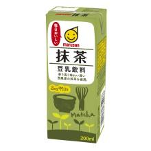 アマゾンでマルサン 豆乳飲料抹茶 200ml×24本が1036円、1本43円。1Lも安い。