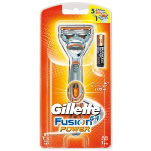 アマゾンでジレット 髭剃り フュージョン5+1 パワー 本体が1598円⇒1057円。