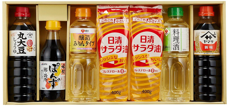 Amazonで日清サラダ油やポン酢、醤油味醂などの調味料セットが2700円⇒890円。