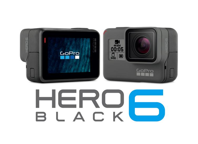 GoPro『HERO6 BLACK』が4K60fps、1080p240fpsビデオ対応で新発売。9/29~。