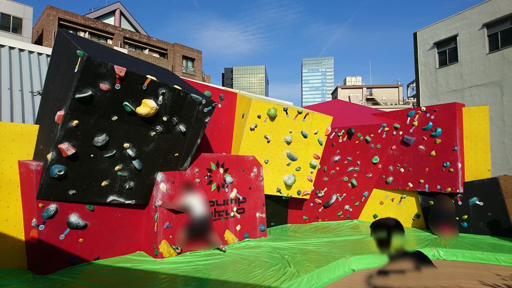 【写真レビュー】ボルダリングジム・秋葉原B-PUMPの4F&屋上の「ブロックウォール」に行ってきた。