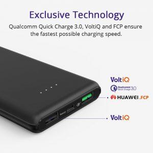 アマゾンでQuick Charge 3.0対応 Tronsmart Presto(入出力 QC3.0 & Huawei FCP対応 5.4A出力 10000mAhが2389円⇒1890円。