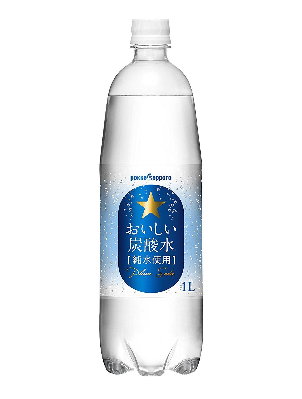 【賞味期限切れ間近】アマゾンがポッカサッポロ おいしい炭酸水 1L×12本が1175円。