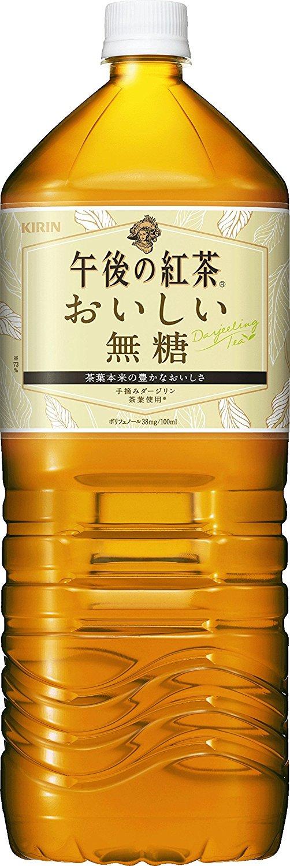 アマゾンでキリン 午後の紅茶 おいしい無糖 PET (2L×6本)×2箱が販売中。