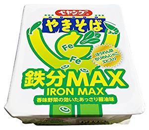 アマゾンでペヤング 鉄分MAXやきそば 110g×18個が雪崩を打って値下がり中。