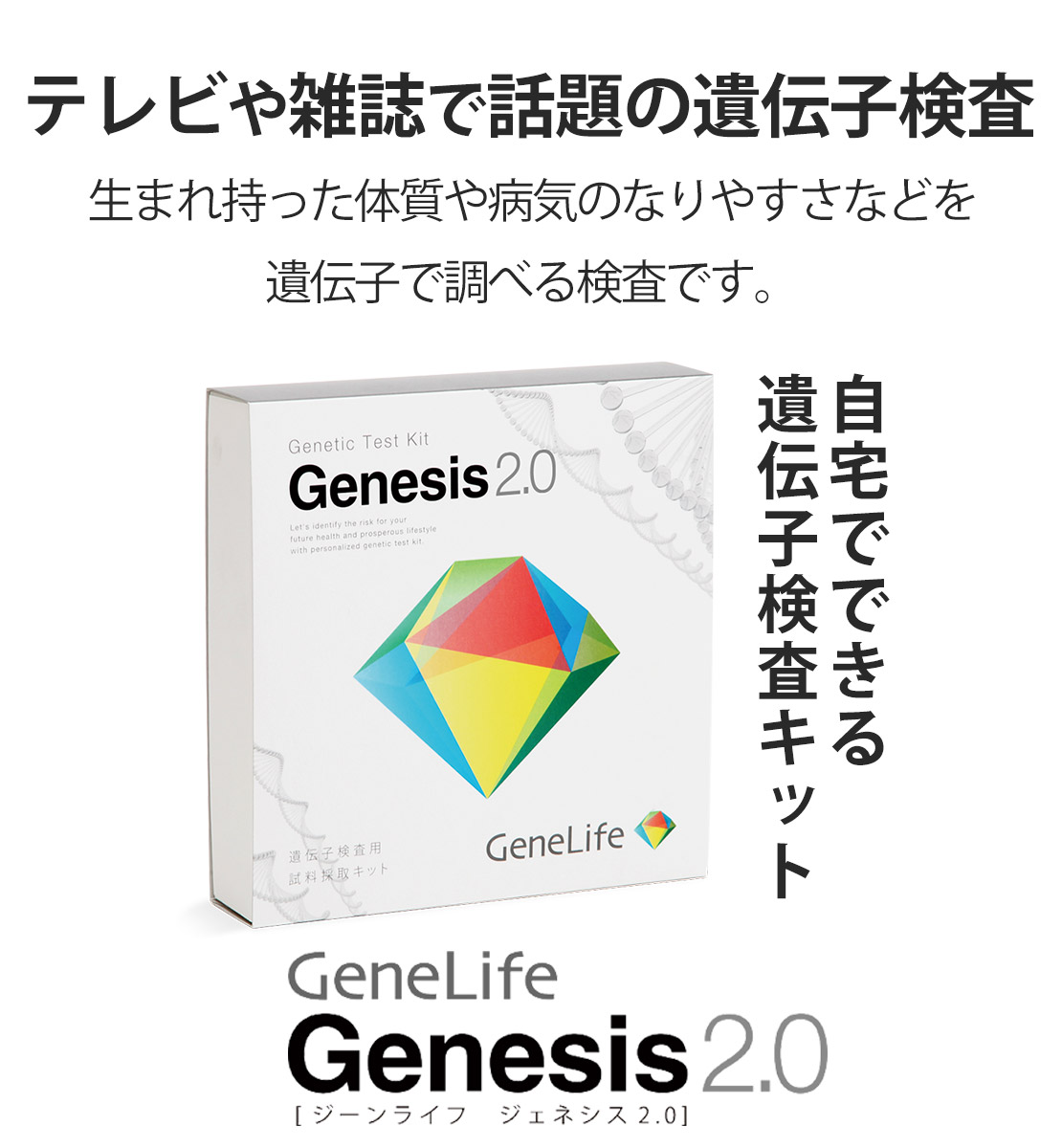 楽天スーパーDEALでGenesis2.0 遺伝子検査キットが21384円、ポイント50倍。