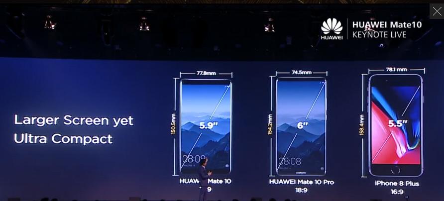 Huawei Mate10が今まさにミュンヘンで発表会中。Kirin970、5.9インチ液晶でiPhone8 Plusよりコンパクト。
