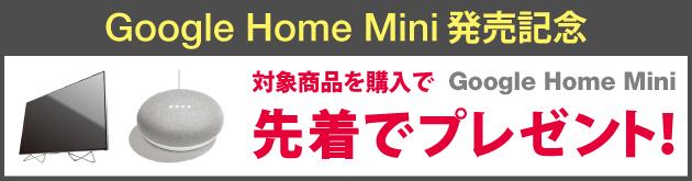ヤマダウェブコムでASUSなどのSIMフリースマートフォンを買うとGoogle Home Miniが先着でもらえる。