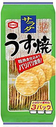 アマゾンタイムセールで亀田製菓 サラダうす焼 93g×12袋が1296円⇒925円。