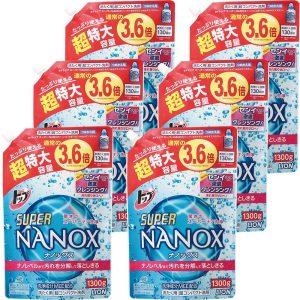 アマゾンでトップ スーパーナノックス 洗濯洗剤 液体 詰替特大 1300g×6個が5047円から40%OFF。