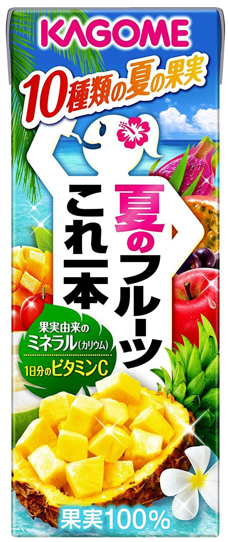 アマゾンでカゴメ 夏のフルーツこれ一本 200ml×24本が1798円からタイムセール予定。