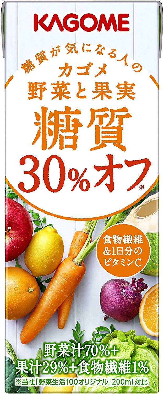 アマゾンでカゴメ 野菜と果実糖質30%オフ 200ml×24本の割引クーポンを配信中。