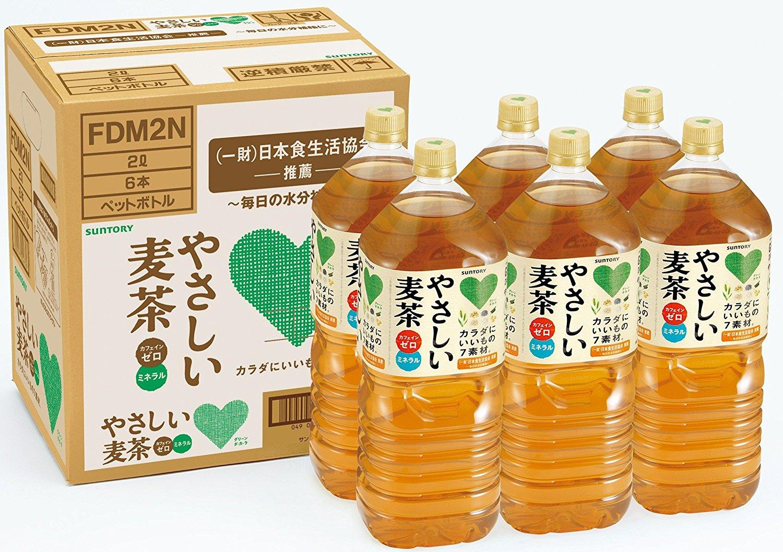 アマゾンでサントリー GREEN DA・KA・RA やさしい麦茶 2Lペットボトル×12本が1998円⇒1698円、1本142円。