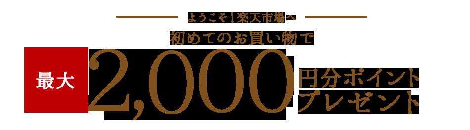 楽天市場で初めての買い物で最大2,000円分ポイントがもれなく貰える。複垢ダメ、ゼッタイ。~12/1 10時。