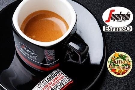 グルーポンで「Segafredoセガフレード・ザネッティ・エスプレッソ」で使えるドリンク+パニーニ引換券が販売中。