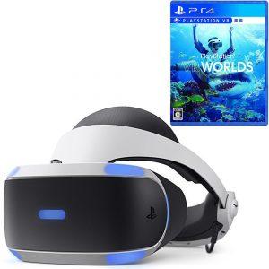 アマゾンでPlayStation VR PlayStation Camera 同梱版+PlayStation VR WORLDS (VR専用)が53870円⇒48578円。