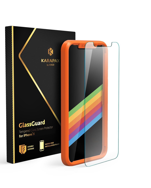 アマゾンでAnker KARAPAX GlassGuard iPhone X用 強化ガラス液晶保護フィルムが1099円⇒769円。