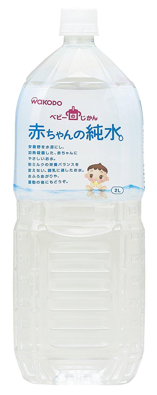 アマゾンでベビーのじかん 赤ちゃんの純水 2L×6本が1237円⇒1051円、1本175円。