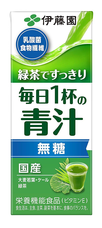 アマゾンで伊藤園 毎日1杯の青汁 無糖タイプ (紙パック) 200ml×24本が1948円⇒1600円、1本67円。