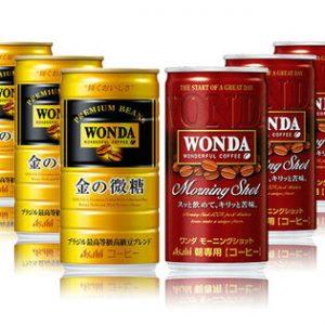 サンプル百貨店で「アサヒ ワンダ 金の微糖/モーニングショット 缶185g」120本が3999円、1本33.4円。