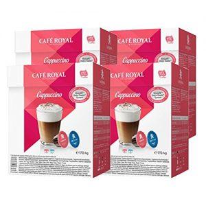アマゾンでネスカフェ ドルチェグスト用互換カプセル カフェロイヤル カプチーノ 4箱セットが2999円⇒1440円。