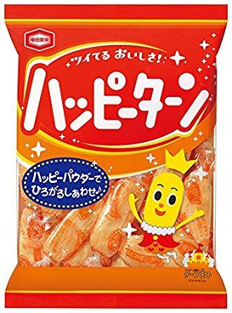 アマゾンで亀田製菓 ハッピーターン 120g×12袋がタイムセール中。