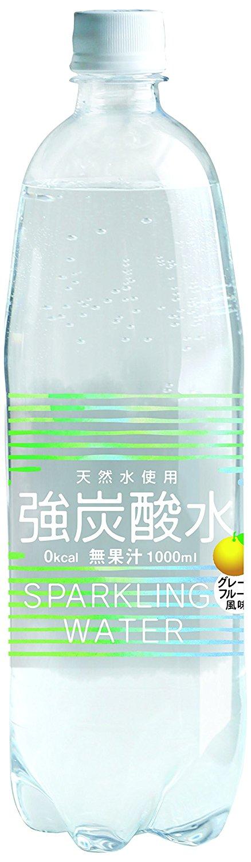 アマゾンで友桝飲料 強炭酸水(プレーン/グレープフルーツ) 1L×15本が1480円から半額となるクーポンを配信中。