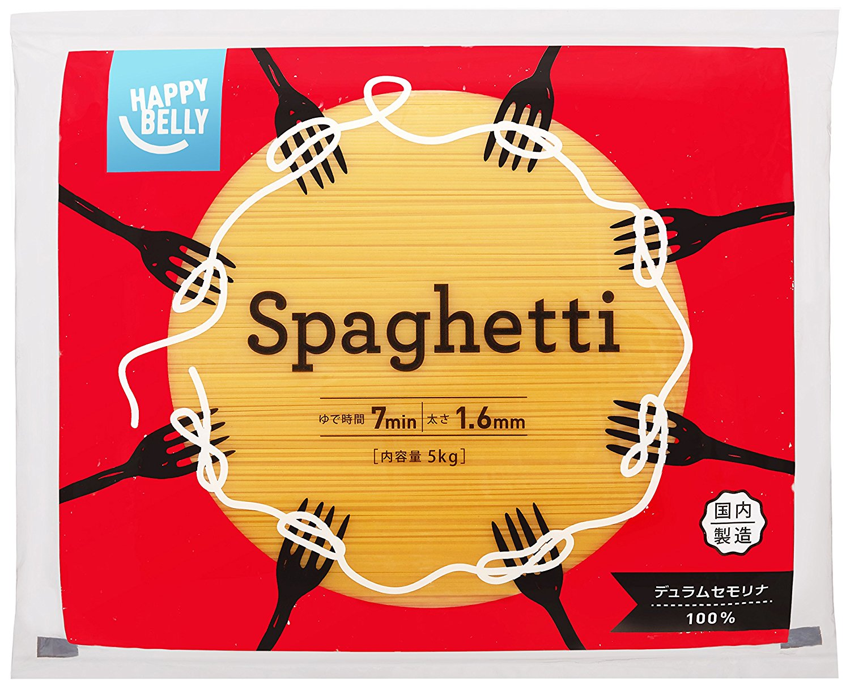 アマゾンでHappy Belly スパゲッティがタイムセール中。スーパーで買うほうが安いけどね。
