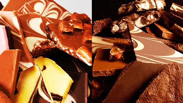 Eクーポンで自由が丘で行列ができる割れチョコ専門店「クーベルチュール 割れチョコレート」250~300gが960円。