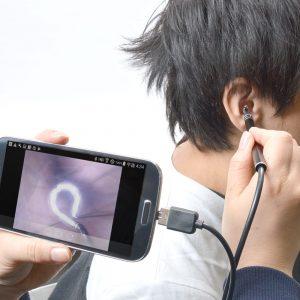 サンコーで自分の耳をカメラで見ながら耳掃除できる「爽快USBイヤースコープ」が2980円で販売開始。自分の耳くそホジホジ動画が作れるぞ。