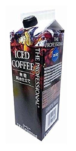 アマゾンでニック食品 THE PROFESSIONAL アイスコーヒー 1000ml×12本が半額となるクーポンを配信中。