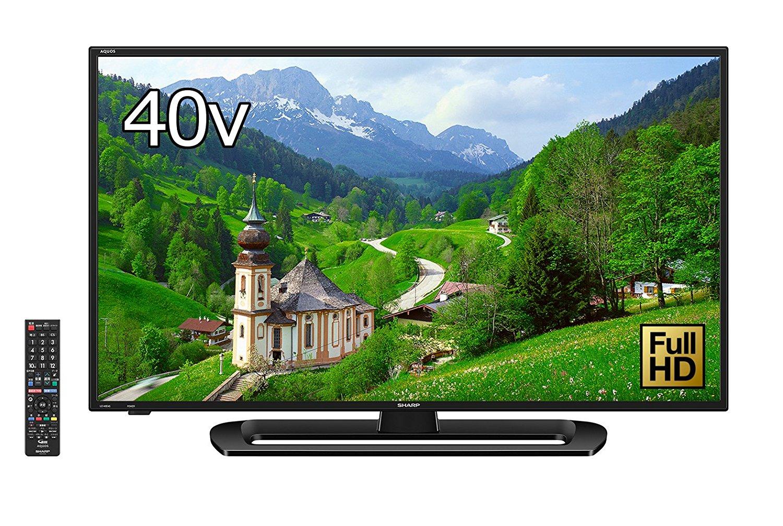 アマゾンで今更シャープ 40V型 フルハイビジョン 液晶 テレビ AQUOS LC-40E40が52250円⇒48800円。
