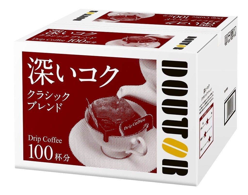 アマゾンでドトールコーヒー ドリップコーヒー クラシックブレンド 100Pが4003円⇒3202円。